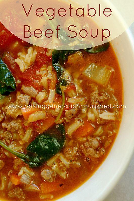 ... Grain Free Option | Recipe | Vegetable Beef Soups, Beef Soups and Beef