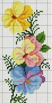 cross stitch chart pansy