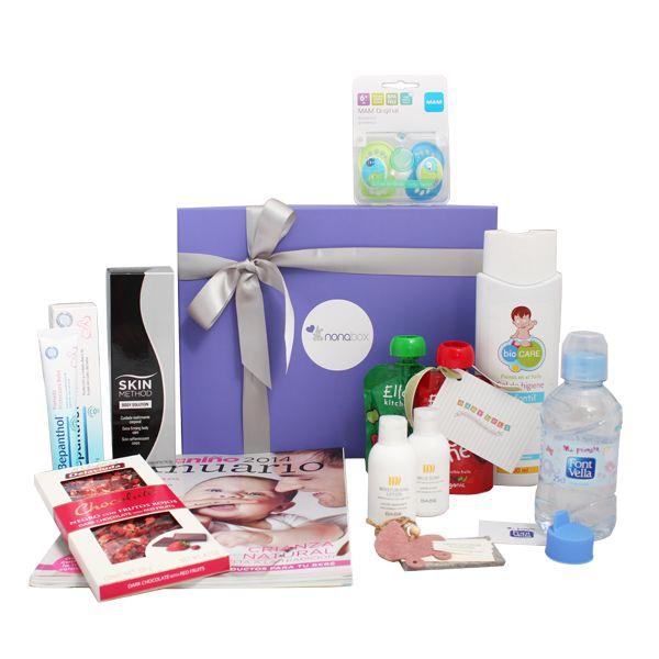 Productos totales de la Nonabox de febrero :) Cada Nonabox contiene entre 6 y 9 seleccionados en función del perfil de la madre y el bebé.