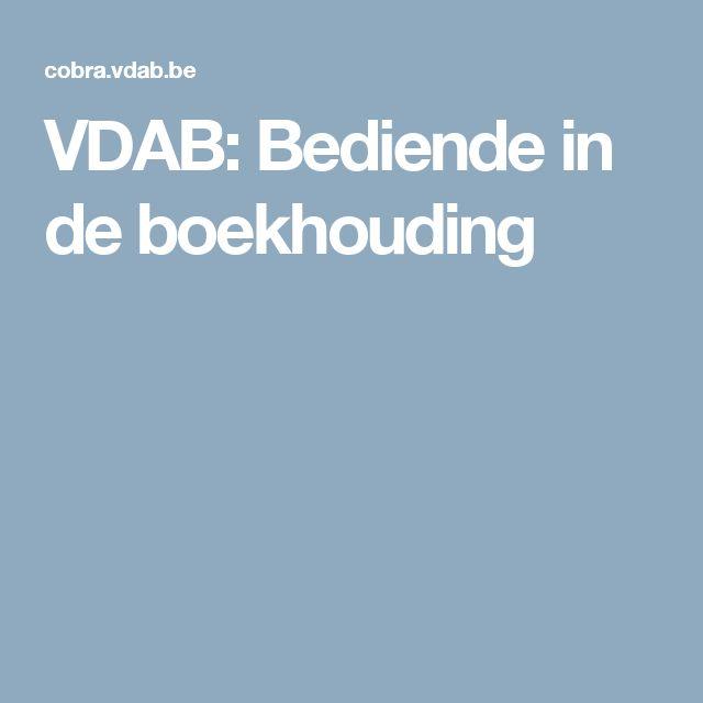VDAB: Bediende in de boekhouding