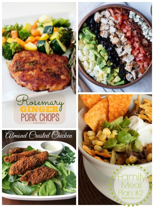 Family Meal Plan Week #2 - dinner recipes KristenDuke.com