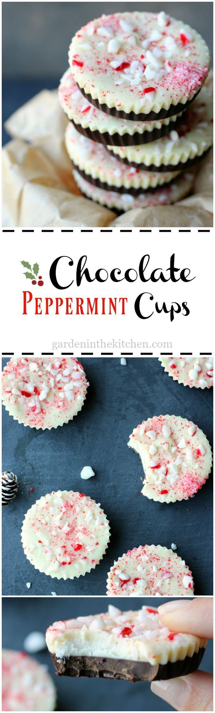 Yum. These Chocolate Peppermint Cups look so festive and delicious.
