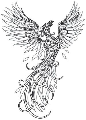 Phoenix Ascends | Urban Threads: Unique and Awesome Embroidery Designs For 5 out…