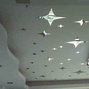 Бесплатная доставка трехмерный кристалл зеркало стены стикеры гостиной спальни телевизор фоне крыши потолок зеркало декоративные наклейки-ТМ ...