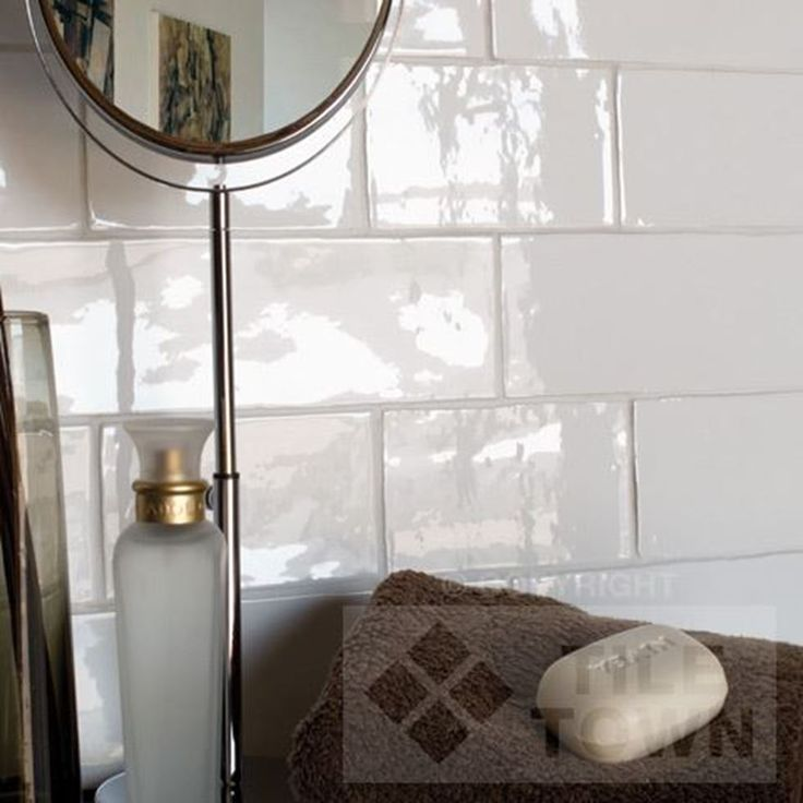 Awesome Brick Effect White Gloss Tiles  Bathroom Tile Ideas  Pinterest
