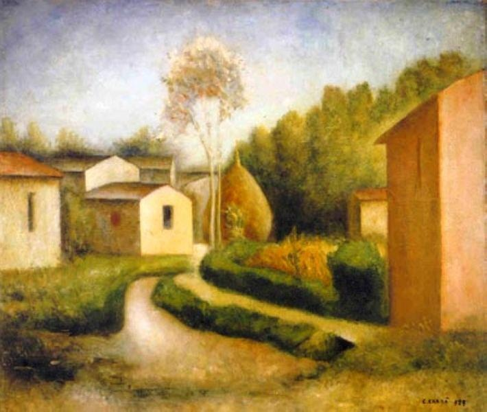 Carlo Carrà - Autunno in Toscana, 1927