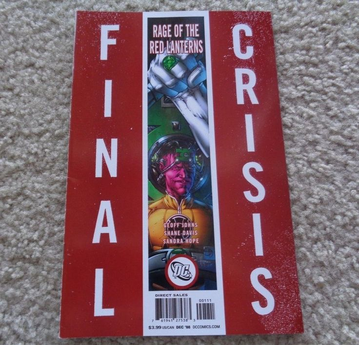 DC Comics Final Crisis Rage of the Red Lanterns December 2008