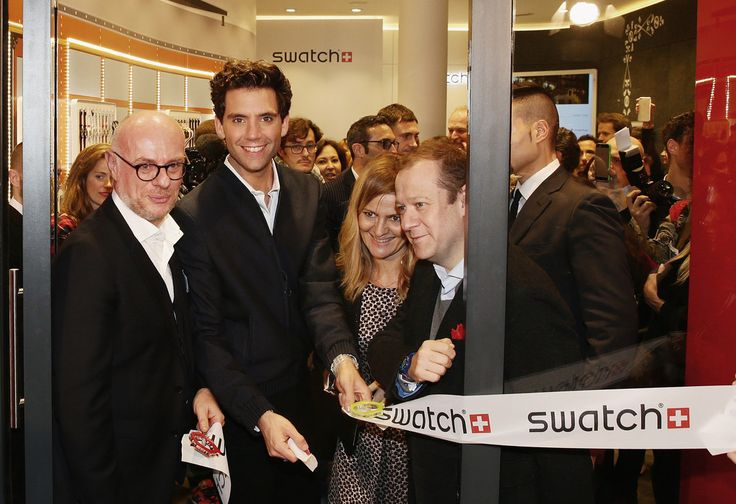 Carlo Giordanetti, Mika, Francesca Ginocchio, Gonzalo De Cevallos attend the Swatch New Flagship Store on November 25, 2014 in Milan, Italy.