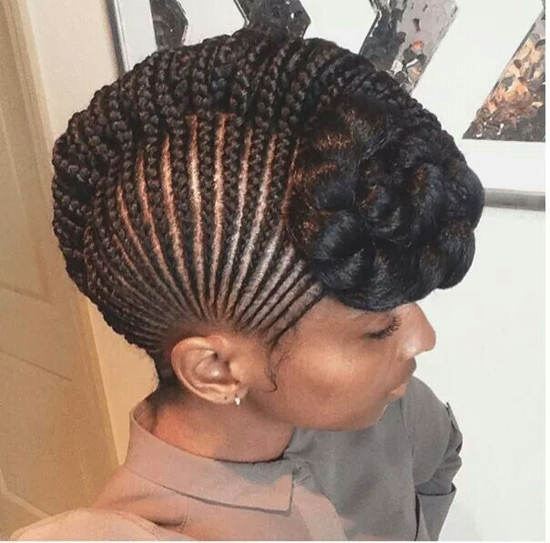 Best 25 cornrows updo ideas on pinterest cornrow updo styles black women natural hairstyles see more cute cornrow updo pmusecretfo Image collections