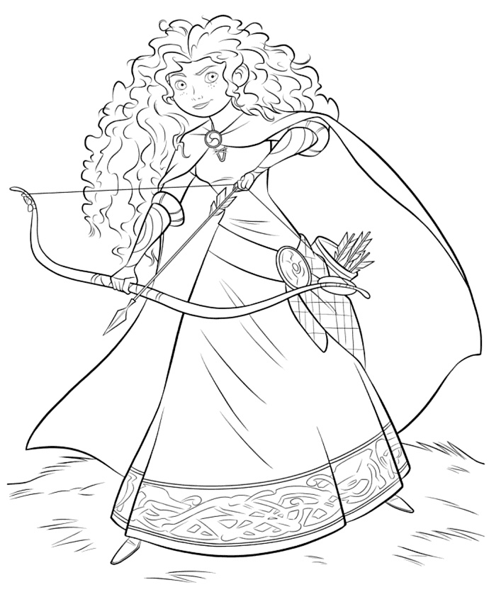34 best images about r 39 s birthday party on pinterest for Merida coloring pages