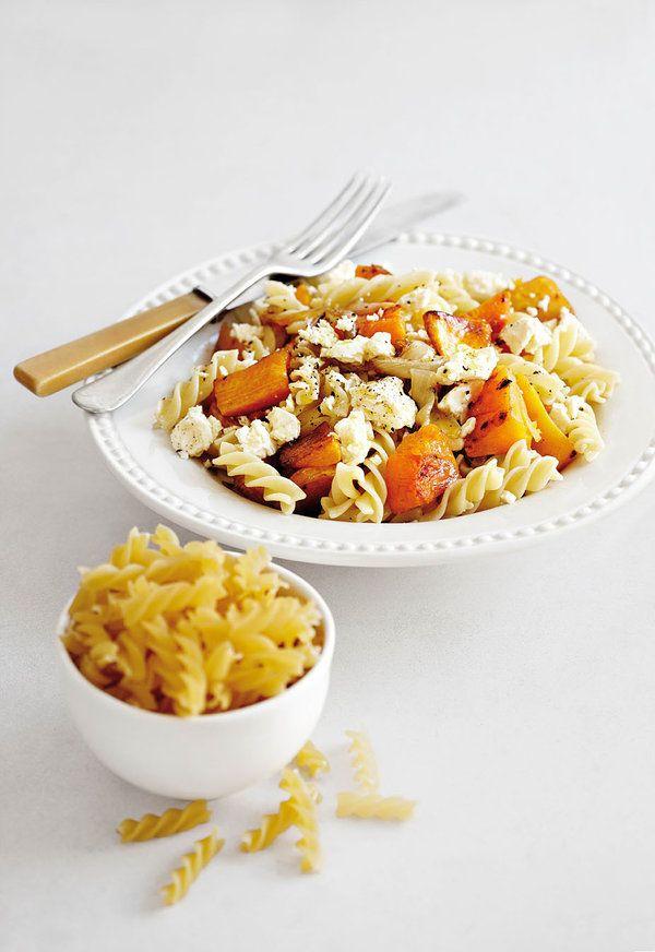 Feta-en-botterskorsie-pasta, Geroosterde botterskorsie en pasta...wat 'n heerlike kombinasie