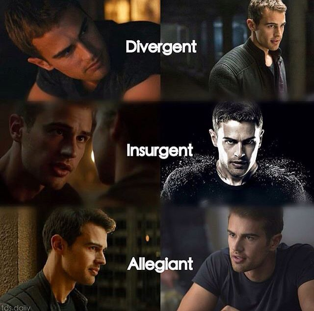 Tobias 'Four' Eaton is Divergent, Insurgent, and Allegiant part one.