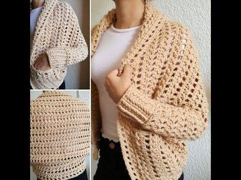 Suéter Crochet talla Mediana - YouTube