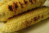 Charcoal Grilled Corn with Lime-Chili Sauce