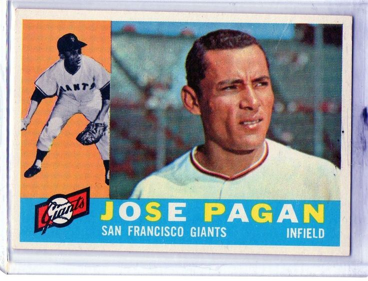 1960 Topps Jose Pagan San Francisco Giants #sfgiants #SanFranciscoGiants