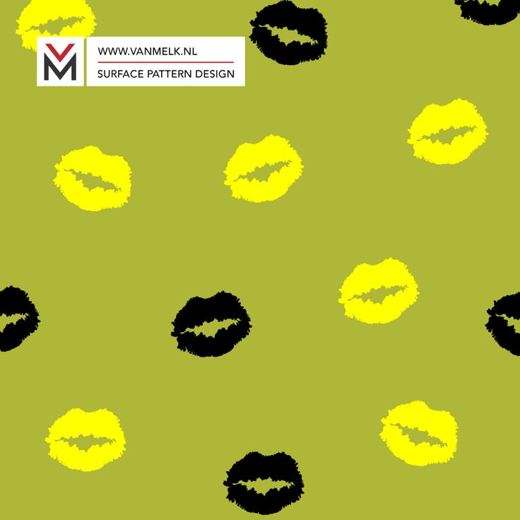 Golden kiss surface pattern, wrapping, wallpaper, textile design