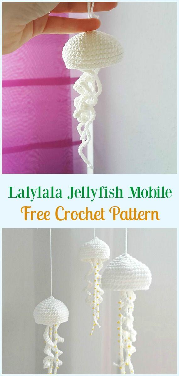 Lalylala Jellyfish Mobile Amigurumi Crochet Free Pattern ...