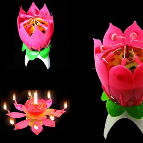 Необычная раскрывающаяся свеча цветок. Нашла здесь - http://ali.pub/jl3og
