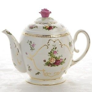 Antique royal Albert - another one that is just breath-taking! TEA Chat *This is a cookie jar.