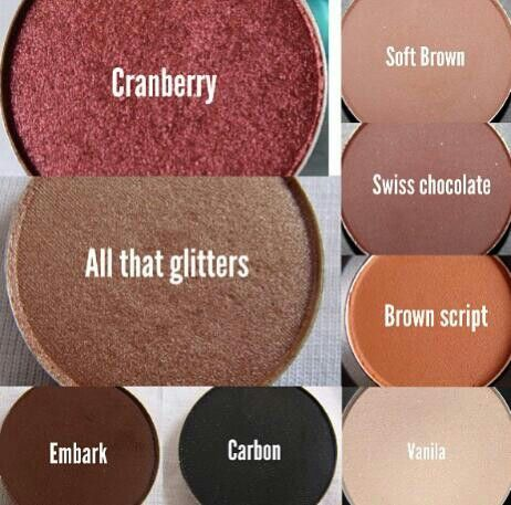 Must have Mac Eyeshadows,,, love cranberry and brown script!!!