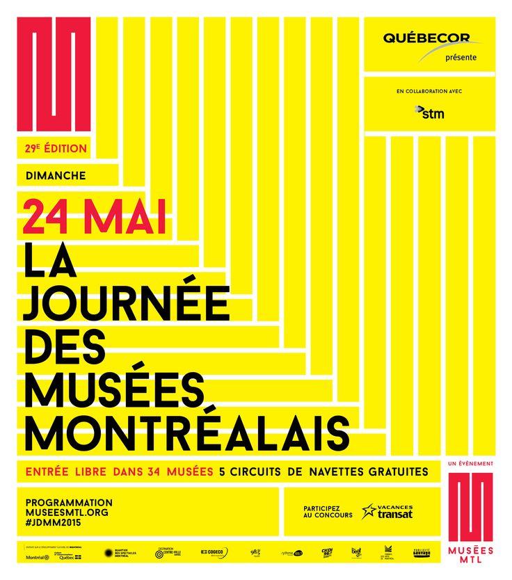 Affiche officielle de la 29e Journée des musées montréalais !