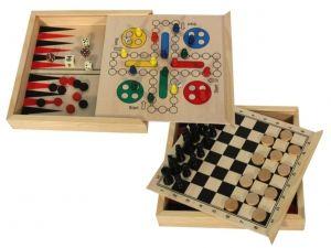 Regalo Juego de madera 4 juegos en 1 con fichas para detalle invitados #Grandetalles
