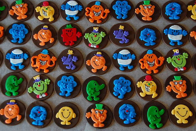 Mr Men Cupcake Toppers
