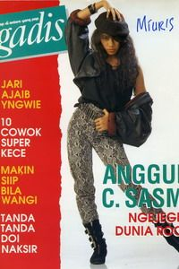 Model: Anggun C. Sasmi, singer. GADIS 17/1990 #GADIS40TH
