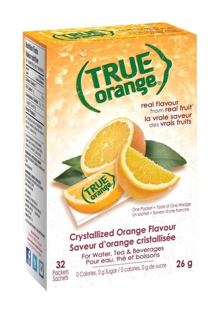 (Case of 6) True Citrus - 32 Packets - Orange