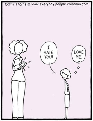 Child Psychology Cartoon When our kids are the least deserving of love is when they need it the most. I find this true with adults too.