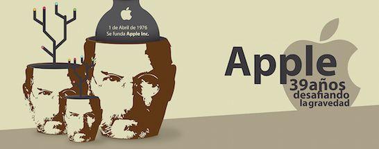 Infografía Apple 39 años desafiando la gravedad - Frikipandi
