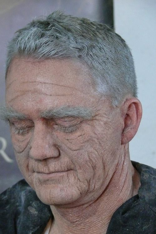 Our first makeup of the day as we began to assemble the finishing touches. Overall, this old-age makeup took about 3 hours to complete.    http://MonsterMakeupFX.com