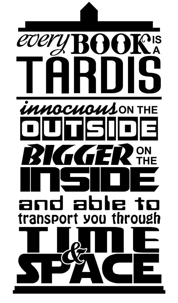 Doctor Who inspired  Tardis is like a book quote by DecalsAreCool, $10.00