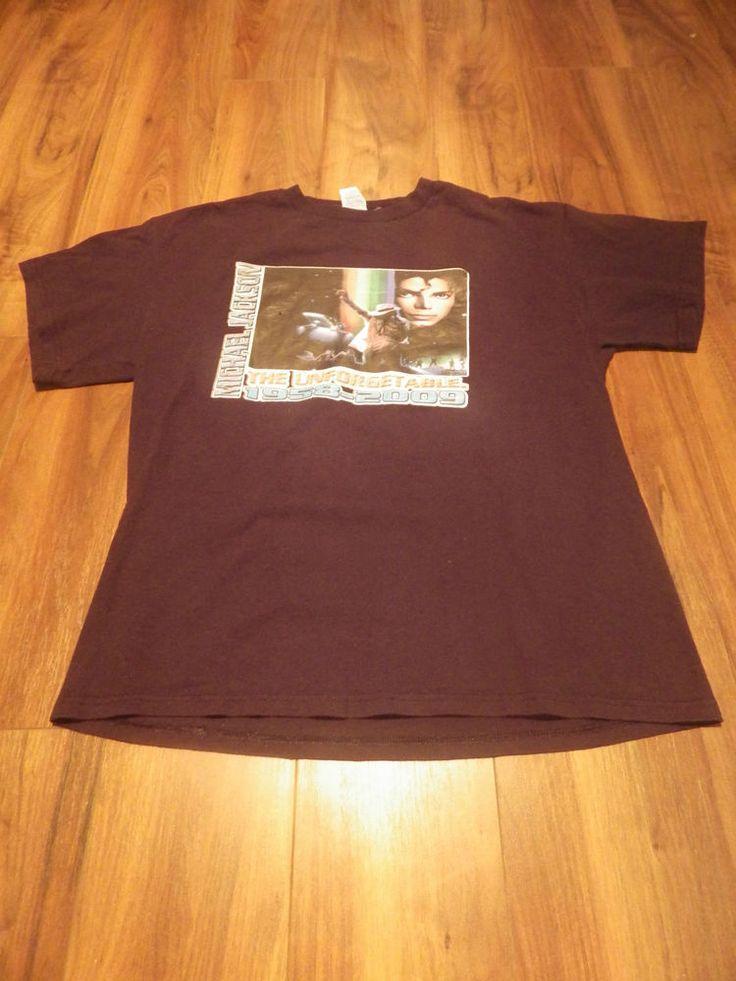 Michael Jackson black t-shirt The unforgetable 1958-2009 size L 100% cotton
