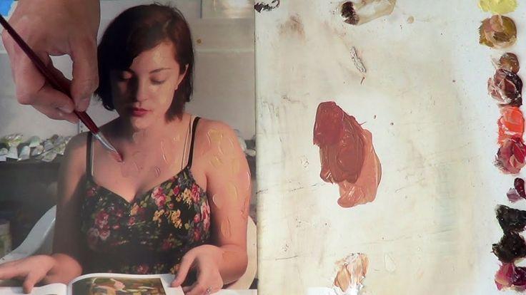 Cómo hacer color piel en diferentes tonalidades 2 Curso de pintura