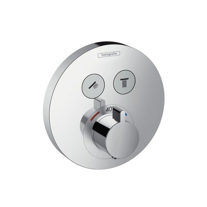 Hansgrohe ShowerSelect S Thermostatic Mixer for 2 Outlets