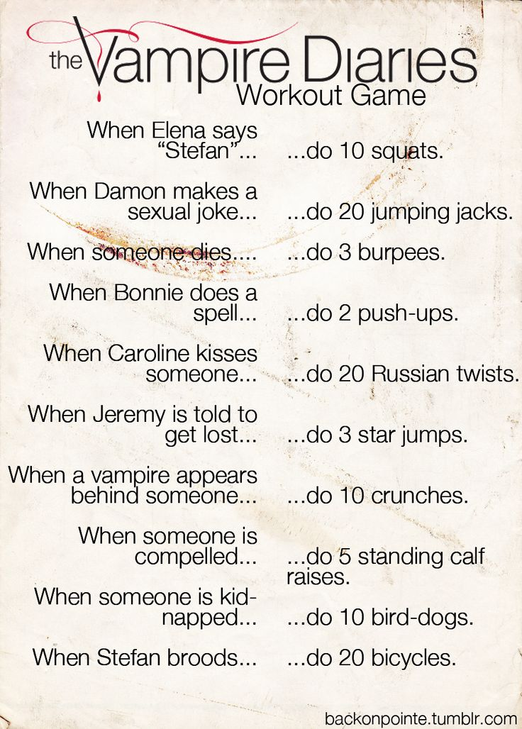 The Vampire Diaries Workout