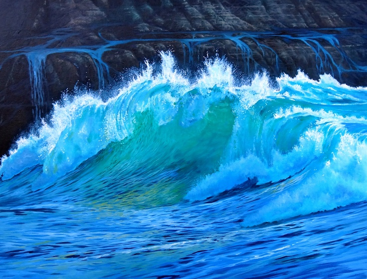 Oil Painting of LJ Waves