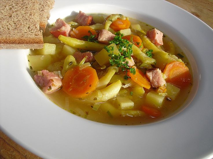 Grüne Bohnensuppe 1