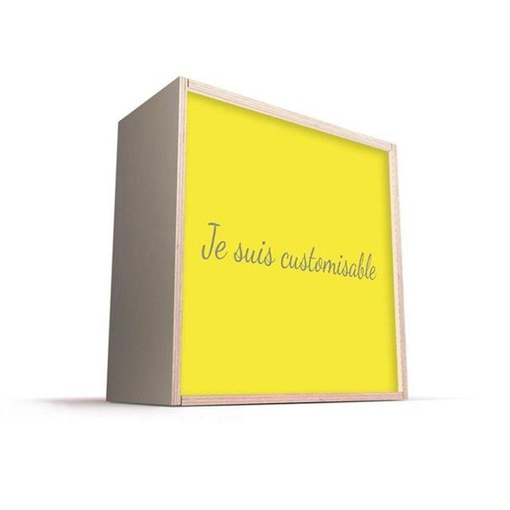 Boites Lumineuses Bois Exotique Cube Et Carré Dada Light – Taille : Taille Unique