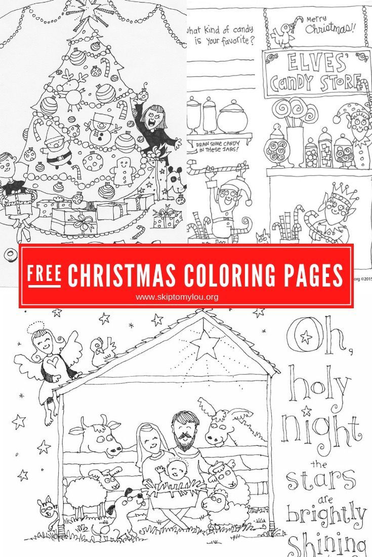 Christmas coloring pages printables craft activities for kids