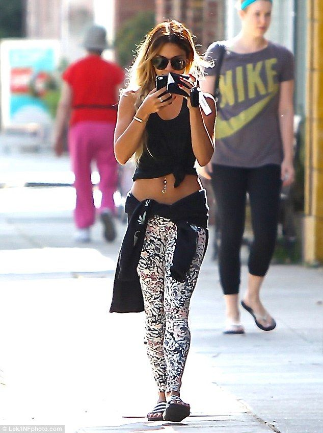 Hard work is paying off! Vanessa Hudgens displayed her toned tummy in a crop top as she left a Pilates class in LA on Monday