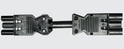 Interconnecting Cables: All Elsafe interconnecting cables are fitted with 20A Male and Female Wieland 18/3 series connectors which are fully compliant to AS/NZS61535 http://elsafe.com.au/products/cables-and-connectors/interconnecting-cables/interconnecting-cables.html