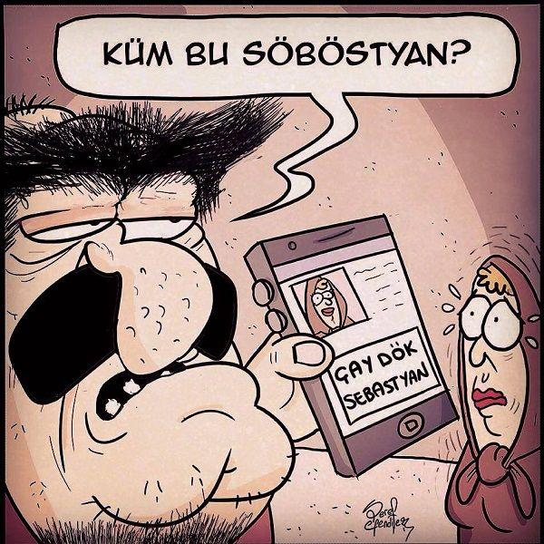 "Kim Bu Sebastian Karikatürü - Şeref Efendiler  Karikatür komedi dram  ""DokunaklıSonlar"