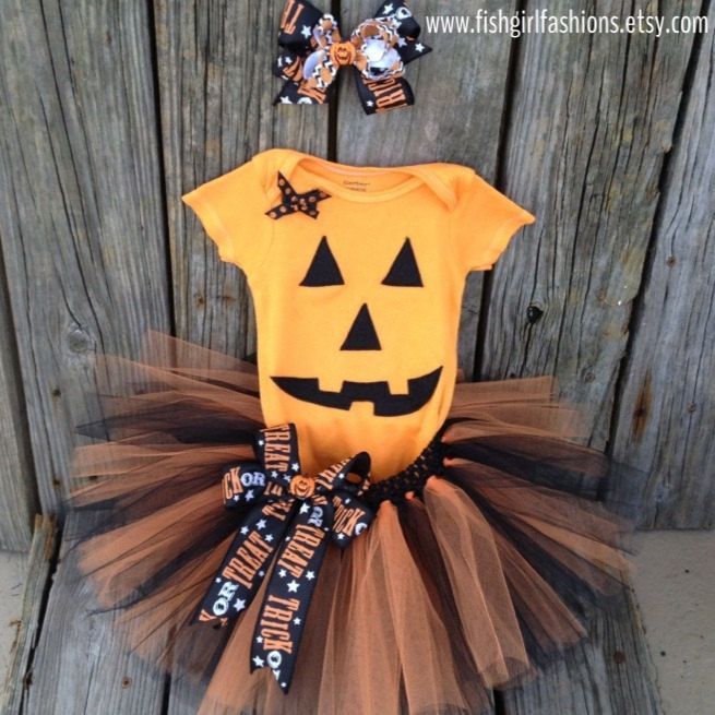 12 Month Pumpkin Costume by FishGirlFashions on Etsy, $35.00