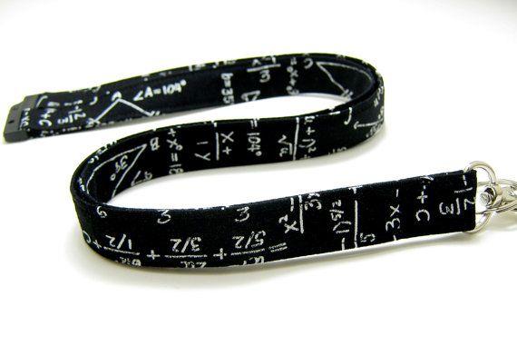Math Geek Fabric Lanyard Optional Breakaway Neck Lanyard ID