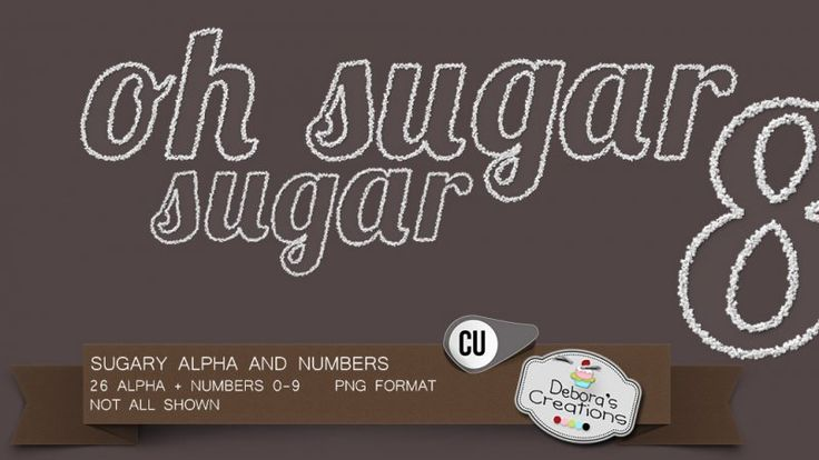 Sugary Alpha And Numbers by Debora's Creations (CU)