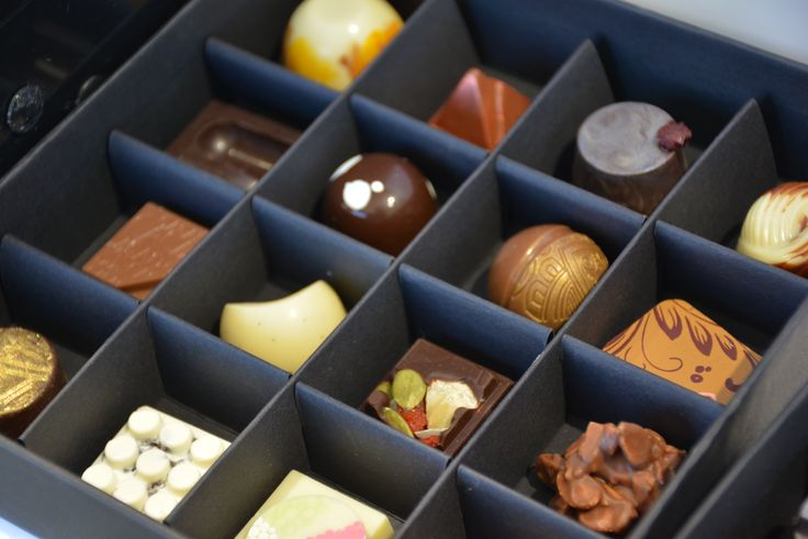 Our chocolatairs selection of 16