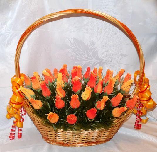 Шикарный букет роз из конфет | Флористика | Разное | Uniqhand - сообщество любителей необычных вещей