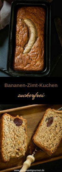 Ein zuckerfreier Kuchen als Soulfood: Bananen und Zimt sind eine tolle Kombination; Dinkelvollkornmehl macht den Geschmack perfekt